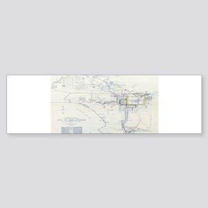LA antique map. Bumper Sticker