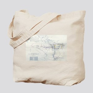 LA antique map. Tote Bag