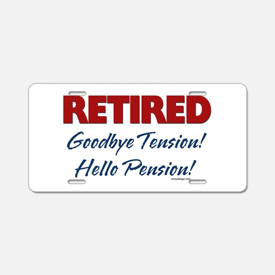 Retired Goodbye Tension Aluminum License Plate