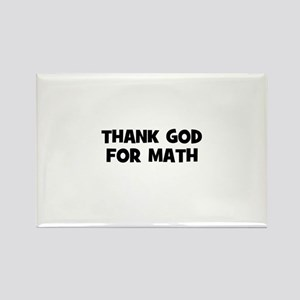 Thank God For Math Rectangle Magnet