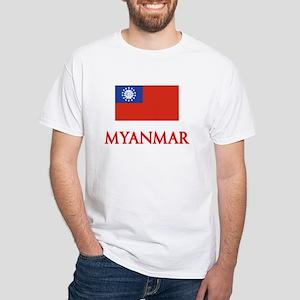 Myanmar Flag Design T-Shirt