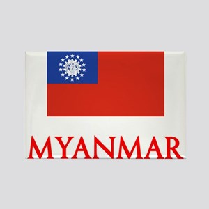 Myanmar Flag Design Magnets