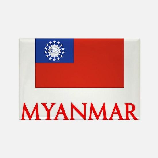 Myanmar Flag Design Magnets
