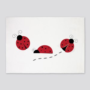 Ladybugs 5'x7'Area Rug