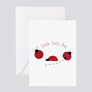 Little Lady Bug Greeting Cards