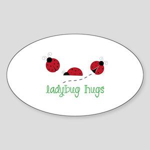 Ladybug Hug Sticker