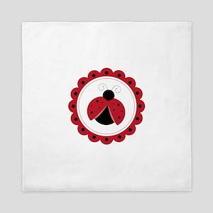 Ladybug Circle Queen Duvet