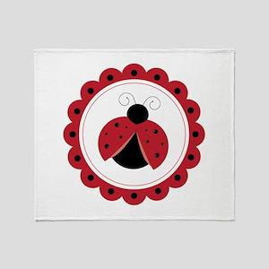 Ladybug Circle Throw Blanket