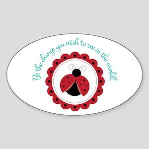 Ladybug Change Sticker