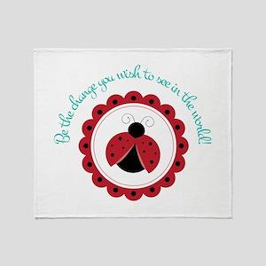 Ladybug Change Throw Blanket