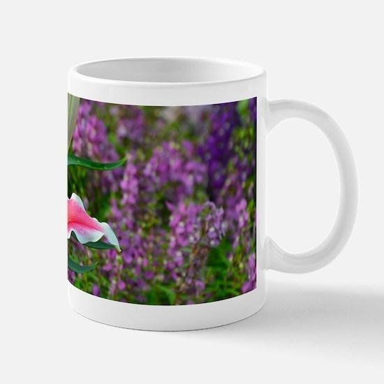 Pink stargazer lily Mugs