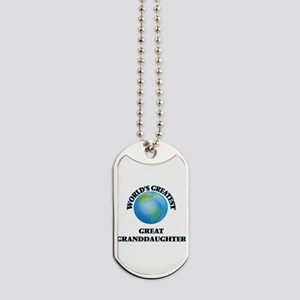 World's Greatest Great Granddaughter Dog Tags