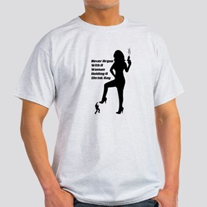 Woman With A Shrink Ray Light T-Shirt