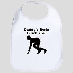 Daddys Little Track Star Bib
