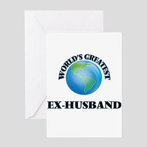 World's Greatest Ex-Husband Greeting Cards