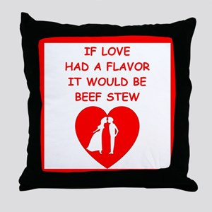 beef stew Throw Pillow