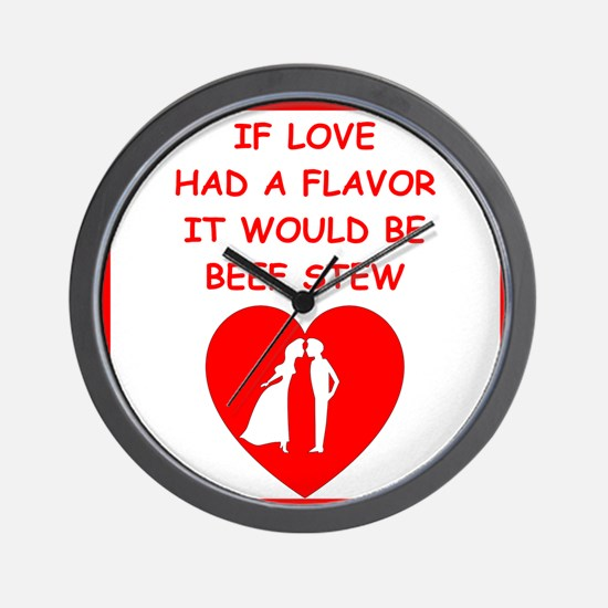 beef stew Wall Clock