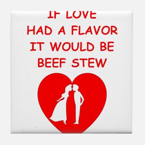 beef stew Tile Coaster