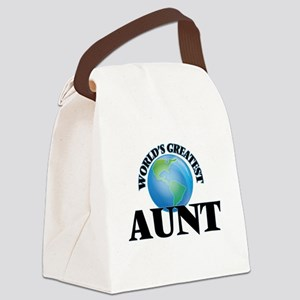 World's Greatest Aunt Canvas Lunch Bag
