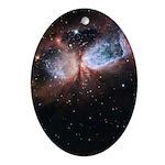Celestial Angel Ornament (Oval)