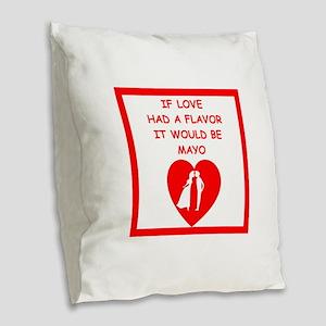 mayo Burlap Throw Pillow