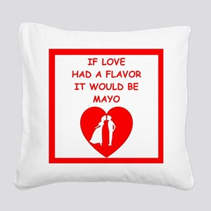 mayo Square Canvas Pillow