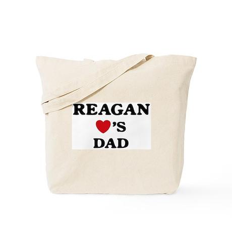 Reagan loves dad Tote Bag