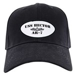 USS HECTOR Black Cap with Patch