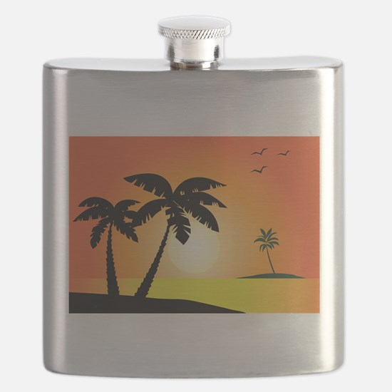 Tropical Sunset Flask