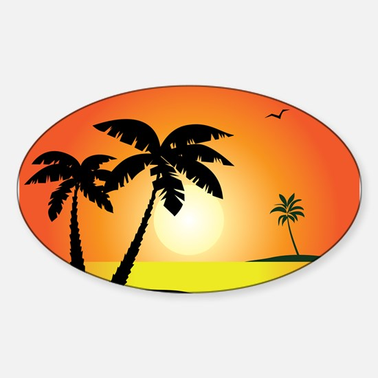 Tropical Sunset Decal