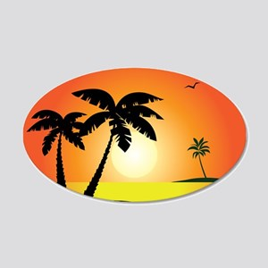 Tropical Sunset Wall Decal