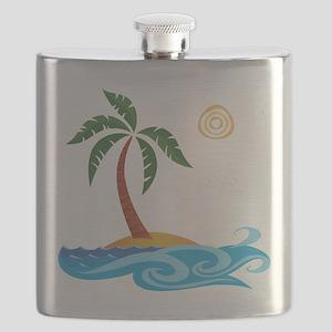 Palm Tree Cartoon Flask