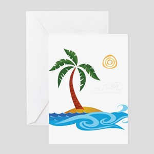 Palm Tree Cartoon Greeting Cards