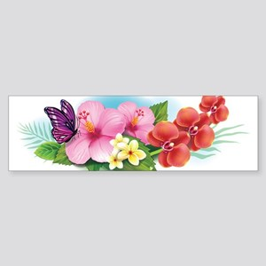 Tropical Banner Bumper Sticker