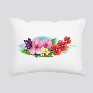 Tropical Banner Rectangular Canvas Pillow