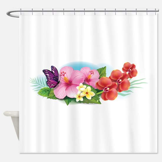 Tropical Banner Shower Curtain