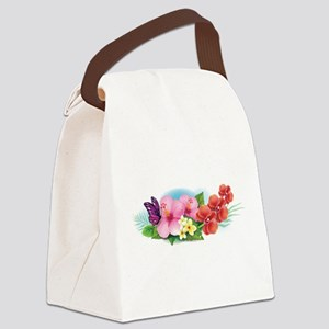 Tropical Banner Canvas Lunch Bag