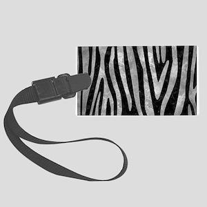 SKIN4 BLACK MARBLE & GRAY METAL Large Luggage Tag