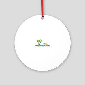 Surfer Beach Ornament (Round)