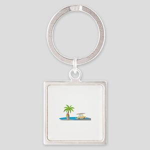 Surfer Beach Keychains