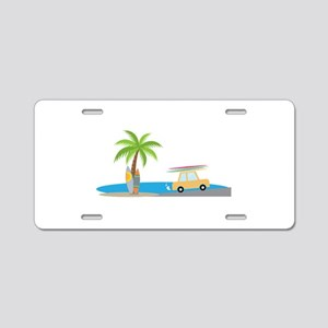 Surfer Beach Aluminum License Plate