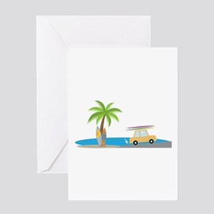 Surfer Beach Greeting Cards