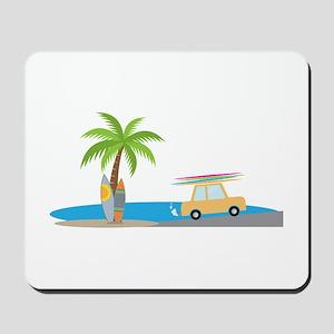 Surfer Beach Mousepad