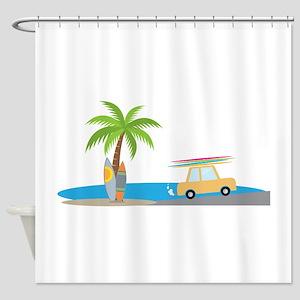 Surfer Beach Shower Curtain