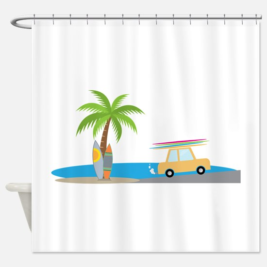 Surfer Beach Shower Curtain