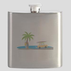 Surfer Beach Flask