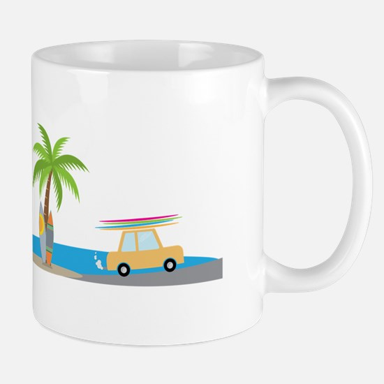 Surfer Beach Mugs