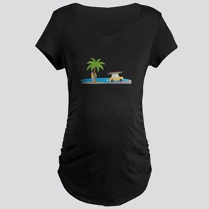 Surfer Beach Maternity T-Shirt