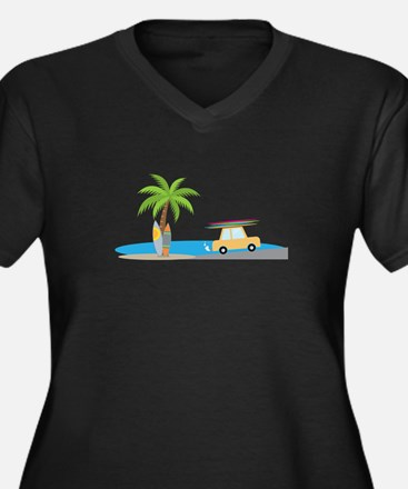 Surfer Beach Plus Size T-Shirt