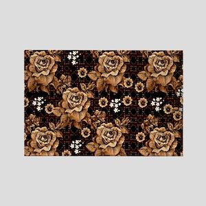Copper Roses Rectangle Magnet